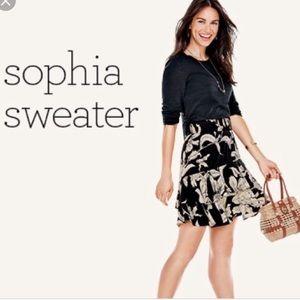 CAbi Sophia Sweater Black Size M Lace Back Detail